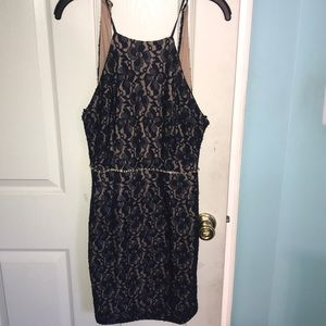 Dresses & Skirts - Navy Blue Dress with Pearls!